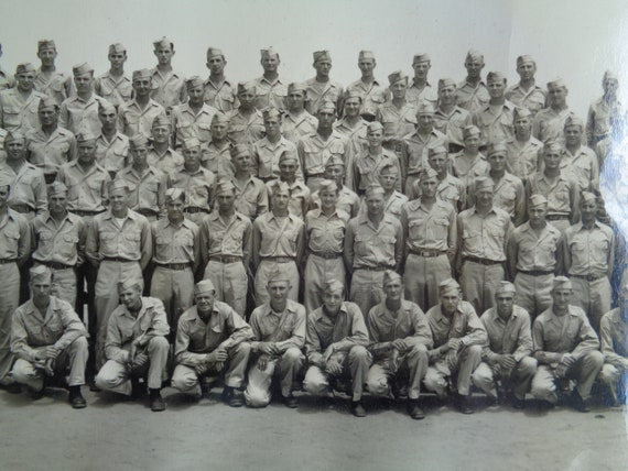 vintage original photograph military panoramic WWII Fort Brag Army 1940's  9th Infantry