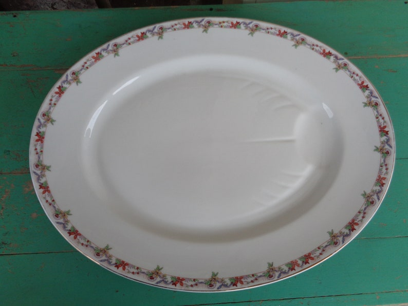antique serving platter Limoges 1900/'s Bernardaud 18 Thanksgiving Holiday Collectible