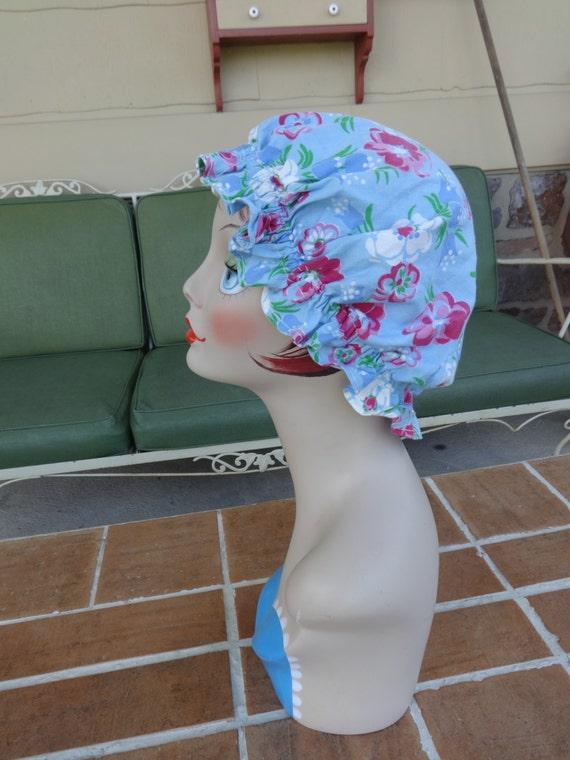 lot of 3, vintage women's bonnets sun feed sacks 1