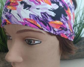 Hot pink /orange /purple feather headband