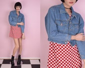 90s Cropped Denim Jacket Small 1990s