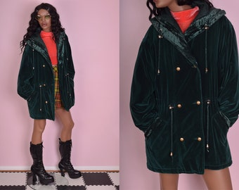 90s Clueless Deep Turquoise Green Jacket With Suede Detailing/Striped Lining nQUYryN