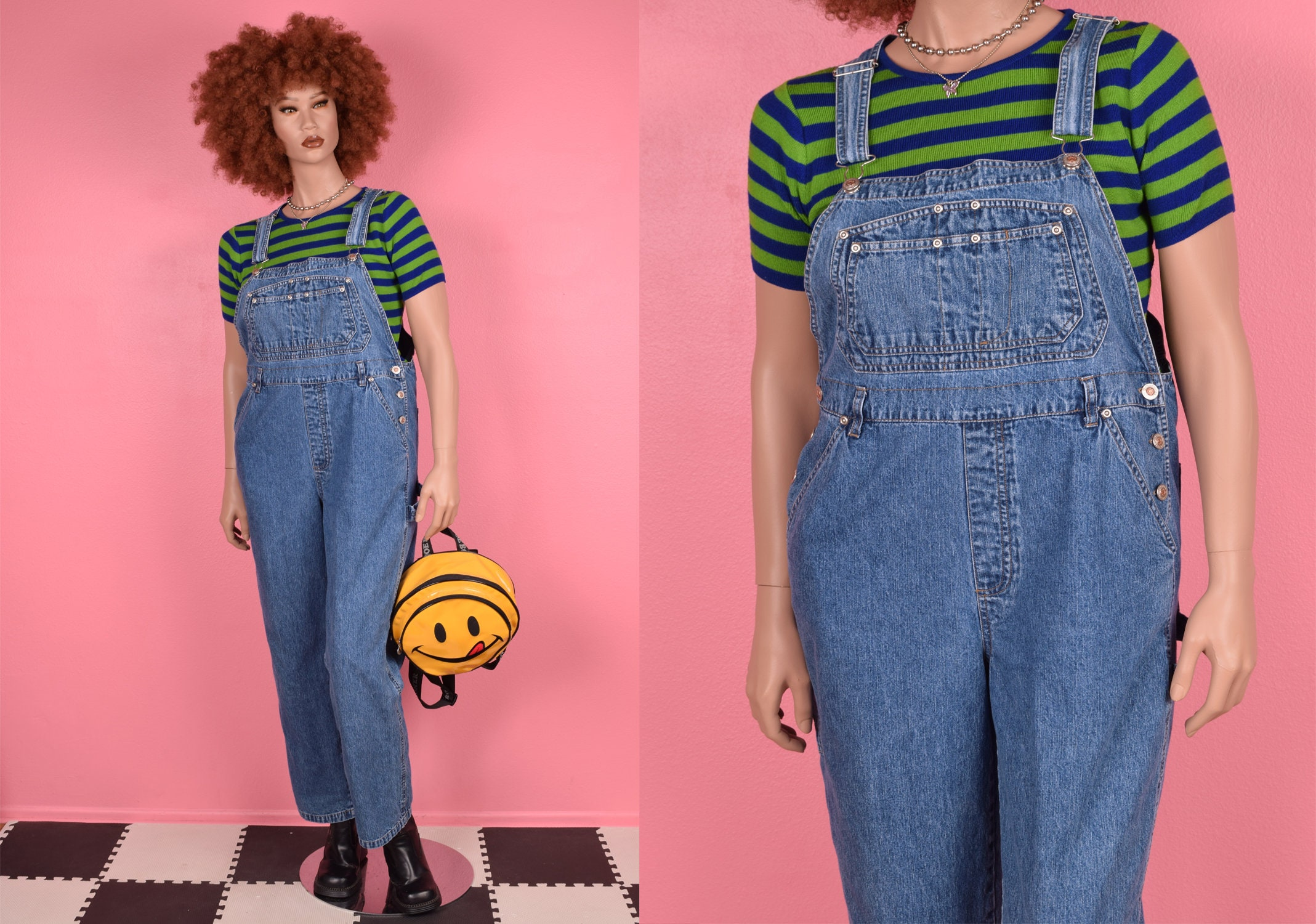 Vintage Overalls & Jumpsuits 90S Denim Overalls Large 1990S $26.75 AT vintagedancer.com