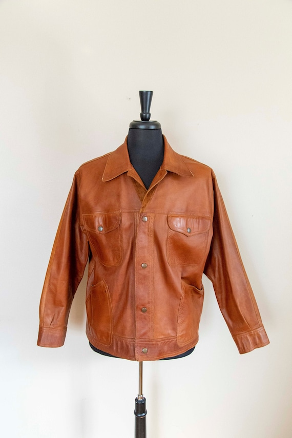 70s HUC of Sweden Men's Brown Leather and Suede Re