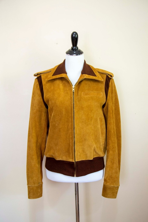 60s Leather Jacket Small - Esquire - Suede and Kni