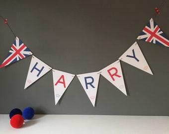 Union Jack Bunting // red white blue // Union Jack Banner // British flag // Royal Wedding // Union Jack Flag // Bunting Flags // Wedding