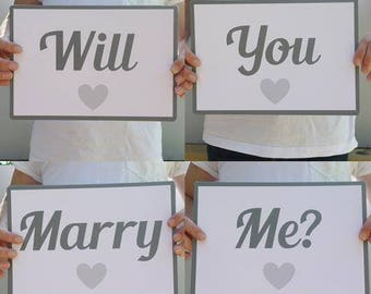 Will You Marry Me? sign flashcards // Will You Marry Me sign // Will You Marry My Mummy // Will You Marry My Daddy // Will You Marry Us //