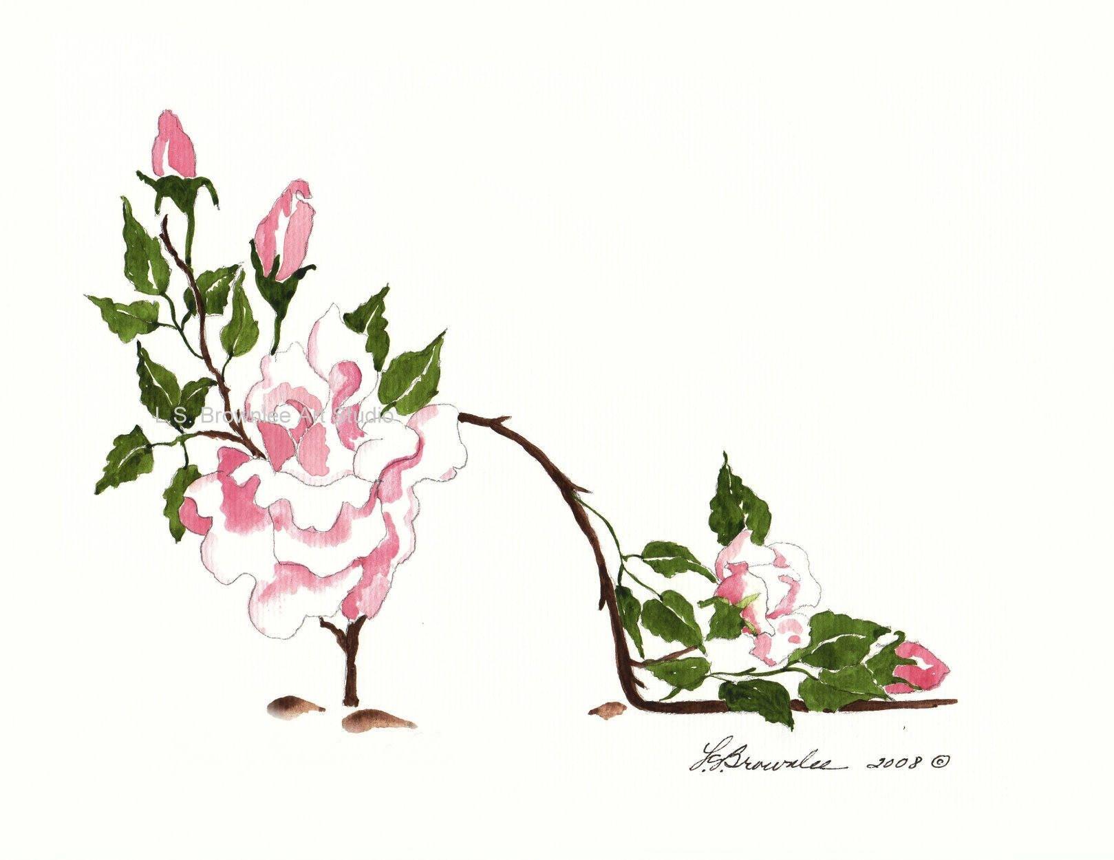 June Birthday Flower Rose Flower Shoe Enhanced With Etsy