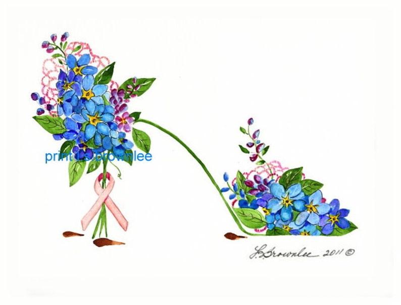 Cancer De Imprimé SignéLivraison Sein Gratuite Conscience La Renforcée W Chaussure Avec Fleur C Peinture Et 76yfgvYb