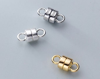 12pcs Bronze Brown Brass Stearling Silver-Gold-gunmetal  Plated Strong Magnetic Clasps Round  6mm 8mm 10mm 12mm