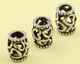 2 Silver Rondelle Beads Antique Silver Plated Brass Flower  Rondelle Beads 12mm  G9030
