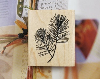 Pine Twigs Rubber Stamp