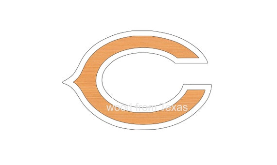 Chicago Bears Logo Shapes Ornaments Diy Craft Etsy