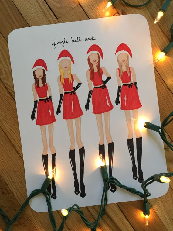 Mean Girls Jingle Bell Rock Fashion Sketch Etsy