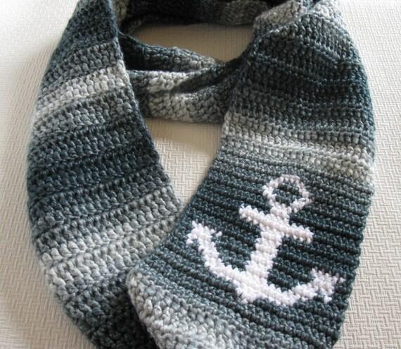 Anker-Schal. Unendlich häkeln Mönchskutte Schal mit einem | Etsy