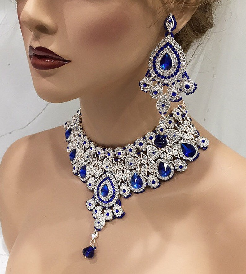03d94252efd7 Indian Bridal Jewelry Set Bridal Necklace and Earring Set