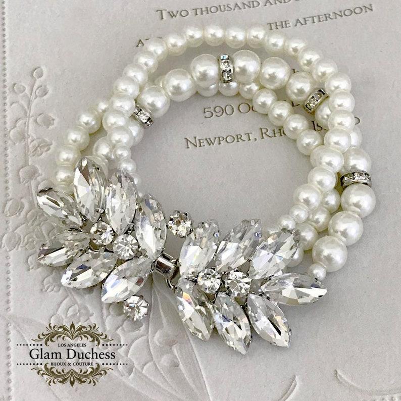 Bridal Earrings Bridal jewelry Bridal Bracelet Pearl Bracelet Wedding Earrings Pearl Earrings Bridesmaid Jewelry set Wedding Jewelry