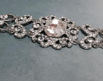 Bridal bracelet, Wedding jewelry,bridal jewelry, bridesmaid bracelet, rhinestone bracelet, crystal bracelet, wedding bracelet, wedding gift