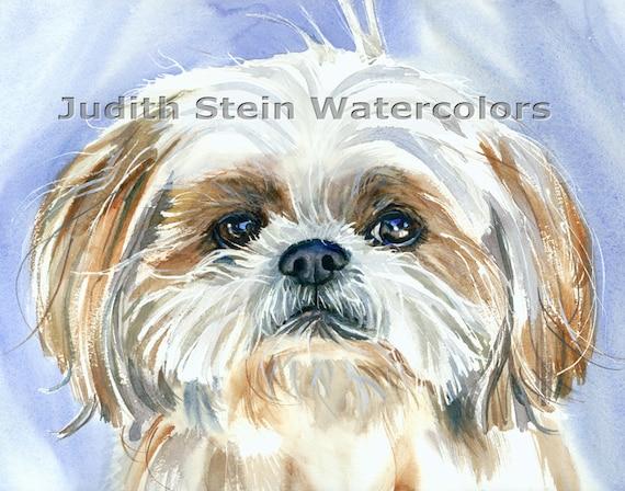Teddy The Shetland Watercolour Print Gicl\u00e9e Pet Portrait Wall Art