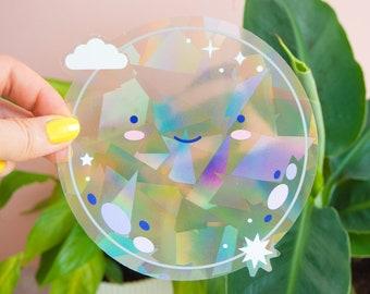 Happy Moon Suncatcher Window Sticker Rainbow Maker