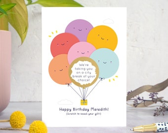 Personalised Birthday Gift Reveal Scratch Card