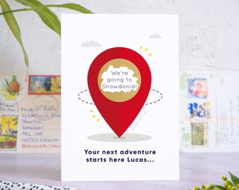 Personalised Location Pin Holiday Reveal Scratch Card