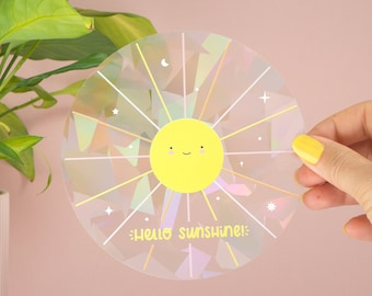 Hello Sunshine Suncatcher Window Sticker and Rainbow Maker