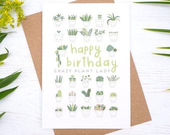 Crazy Plant Lady Birthday Card