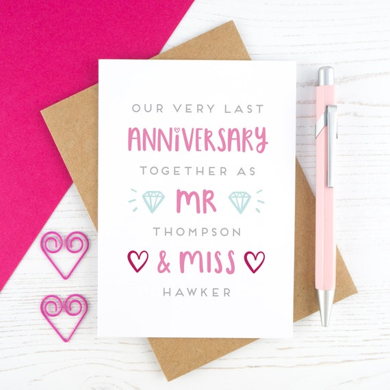 Last Valentines Before We Marry Personalised Etsy