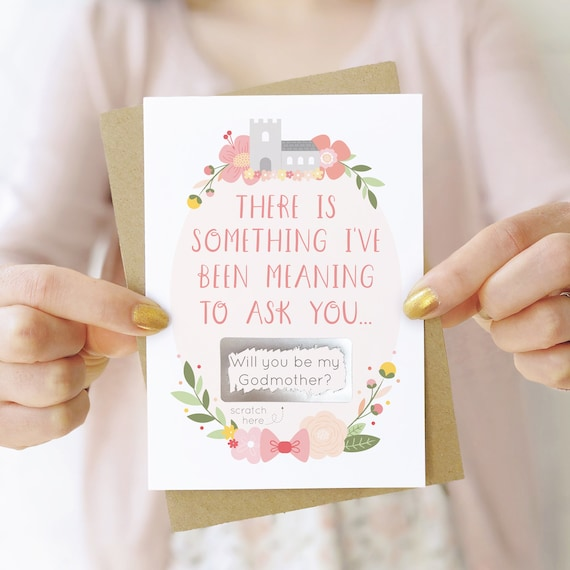 Will You Be My Godparents Card Card for Godmother Will You be My Godmother Card Will You Be My Godfather Card Godmother Greeting Card