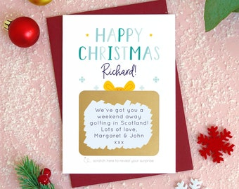 Personalised Christmas Present Scratch Card