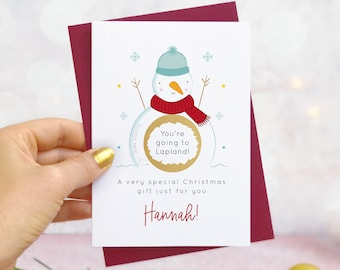 Personalised Snowman Christmas Gift Scratch Card
