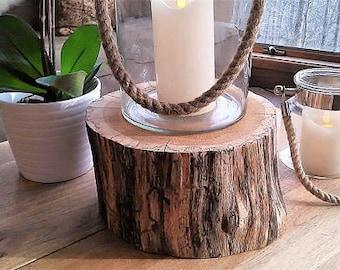 Wood tree stump - Cabin decor - Tree log - Thick tree slice - Wood cake stand - pedestal - Plant stand - Pedestal