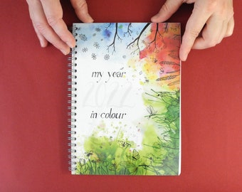 PRESALE till November 1st! - My year 2022 in colour - weekly Agenda 2022 - Calendar - Unique illustration - colourful agenda - desk calendar