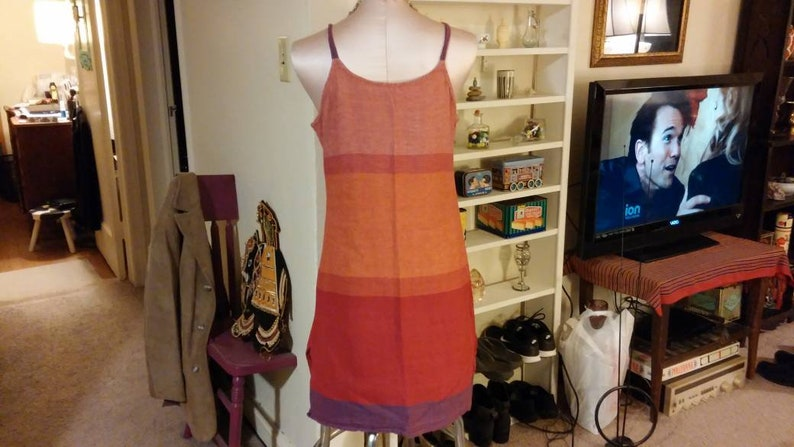 Vintage Dress Cotton Nepal Indian Summer Spaghetti Strap Multi Colored Beach Cover Up Pool Gear Sundress Festival Clothing