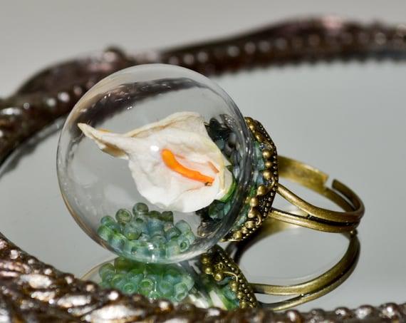 Lily Globe Ring