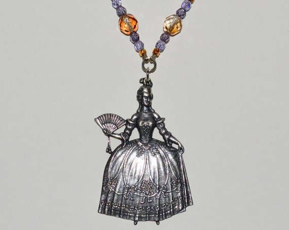 Marie-Antoinette Necklace - Purple / Orange