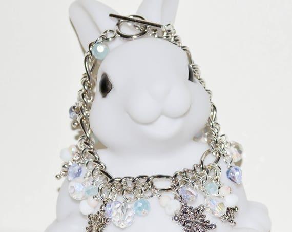 Charm Bracelet - Snowflake Blue