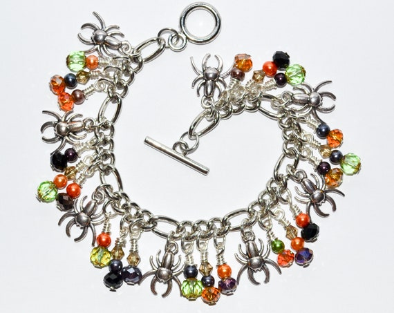 Charm Bracelet - Fall Spiders