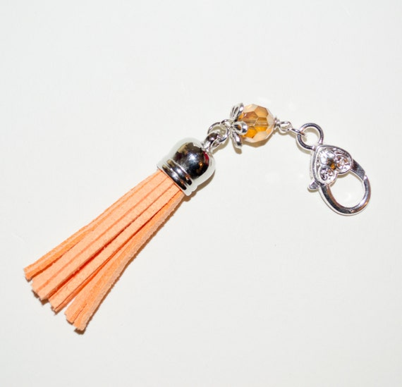 Tassel Keyring/Bag Charm - Orange
