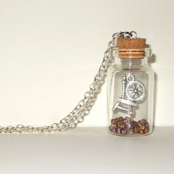 Spinning Wheel Bottle Necklace