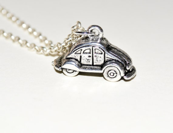 Car Necklace, Little Car Pendant, Silver Car Charm, Vehicle Necklace, Car Jewelry, Little Car Charm, Car Pendant, Simple Necklace, Cute Car