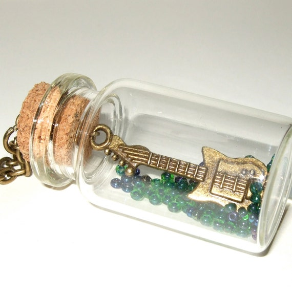 Guitar Bottle Necklace