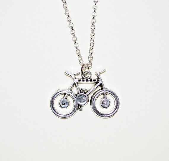 Bicycle Necklace, Bike Charm Necklace, Bicycle Pendant, Cycling Necklace, Cyclist Jewelry, Bike Lover, Simple Necklace, Silver Bike Charm