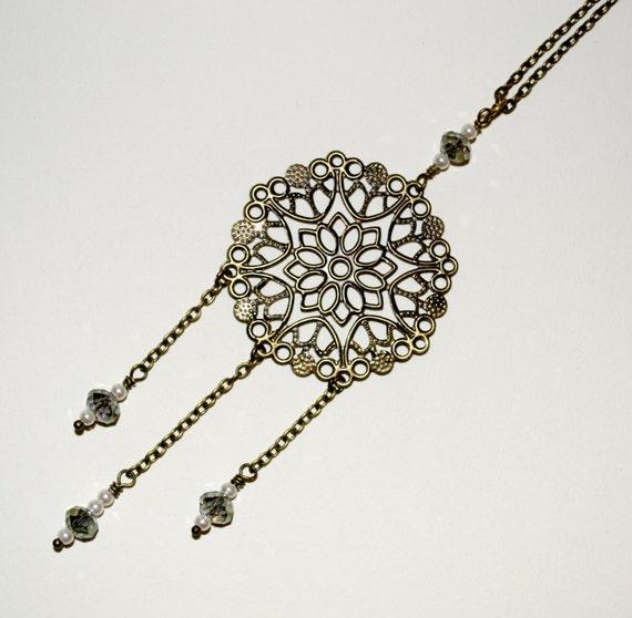 Triple Drop Boho Necklace
