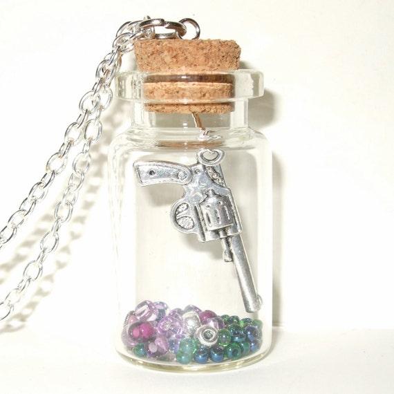Gun Bottle Necklace