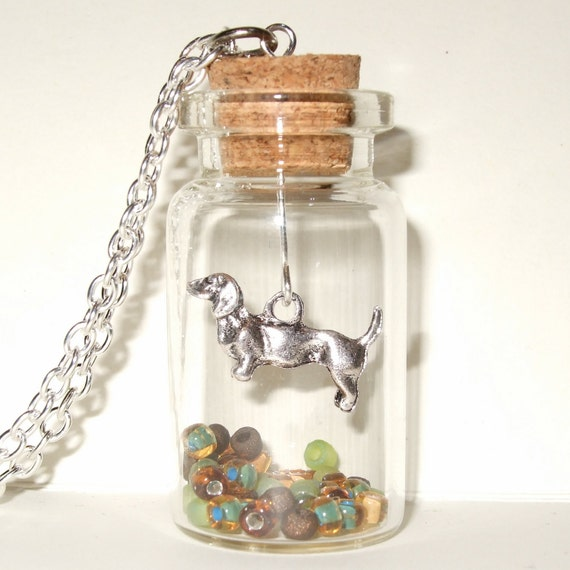 Dachshund Bottle Necklace