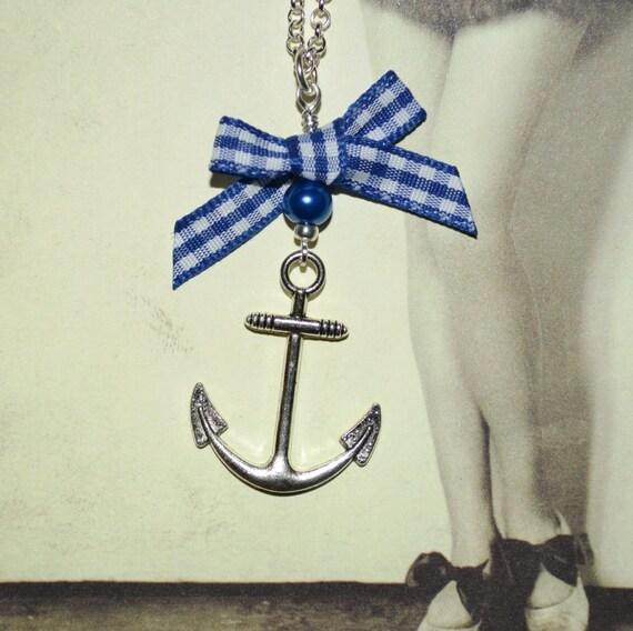 Rockabilly Anchor Necklace