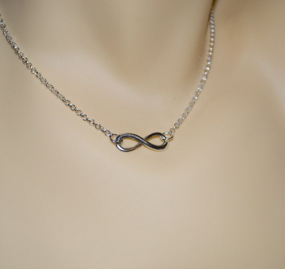 Infinity Necklace, Friendship Jewelry, Infinity Symbol Necklace, Silver Infinity Sign Necklace, Everlasting Symbol Jewelry, Figure of Eight