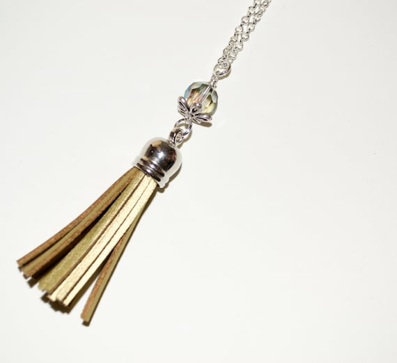 Gold Tassel Necklace, Boho Fringe Jewelry, Layering Necklace, Festival Jewelry, Long Boho Necklace, Fringed Tassel Pendant, Long Gold Tassel